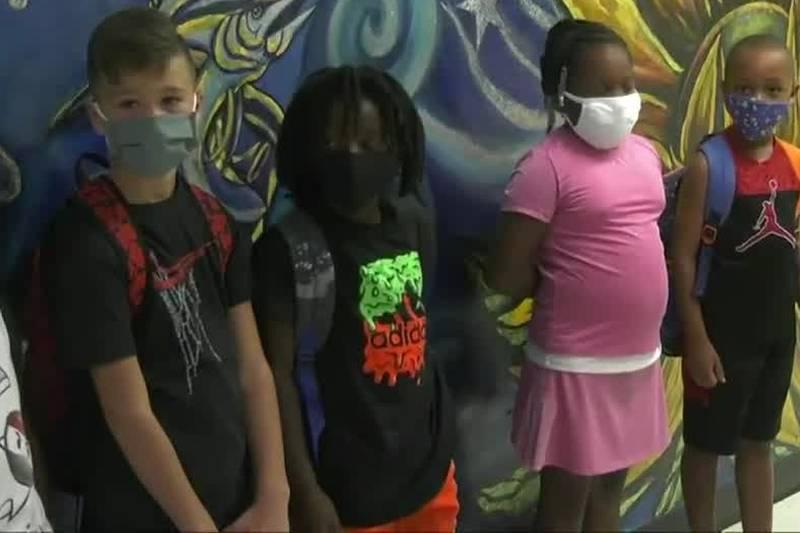 WPS kids in masks