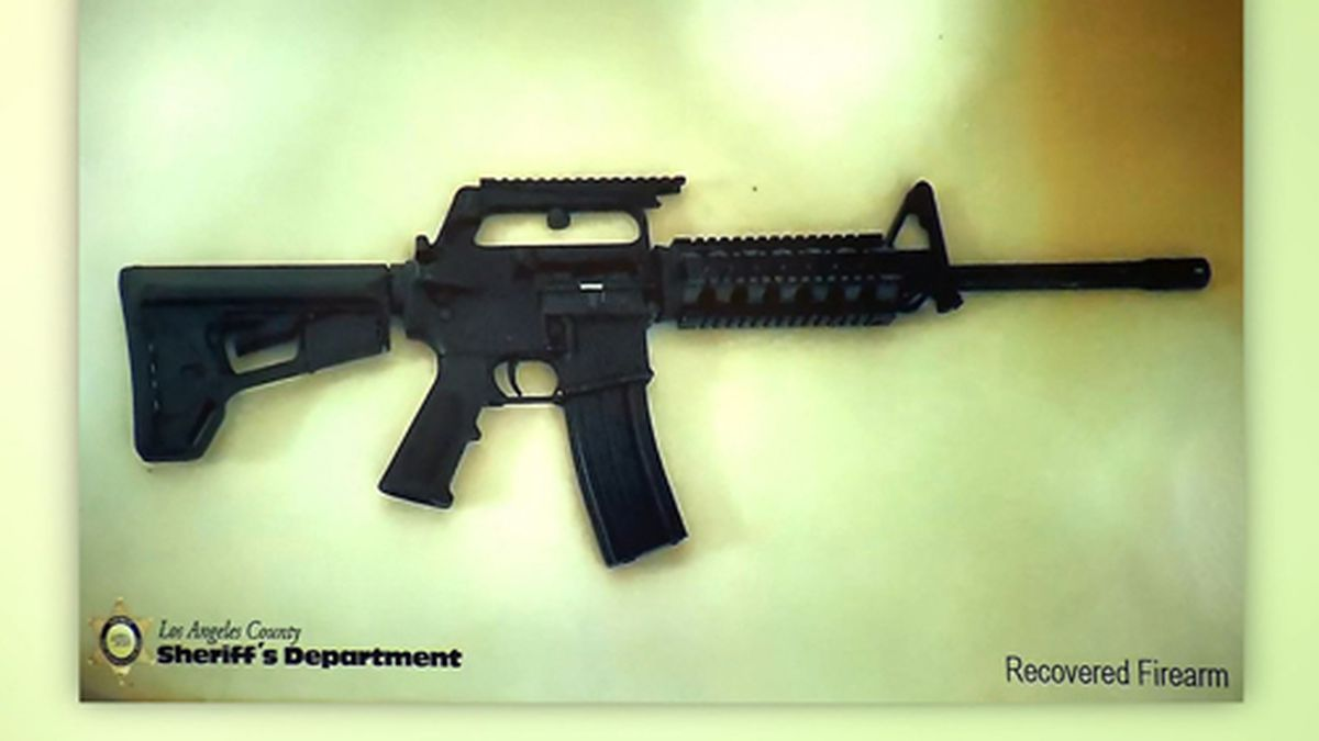 This picture shows a firearm recovered in a Los Angeles-area school shooting plot investigation, authorities said. (Source: Los Angeles County Sheriff's Department/CNN)