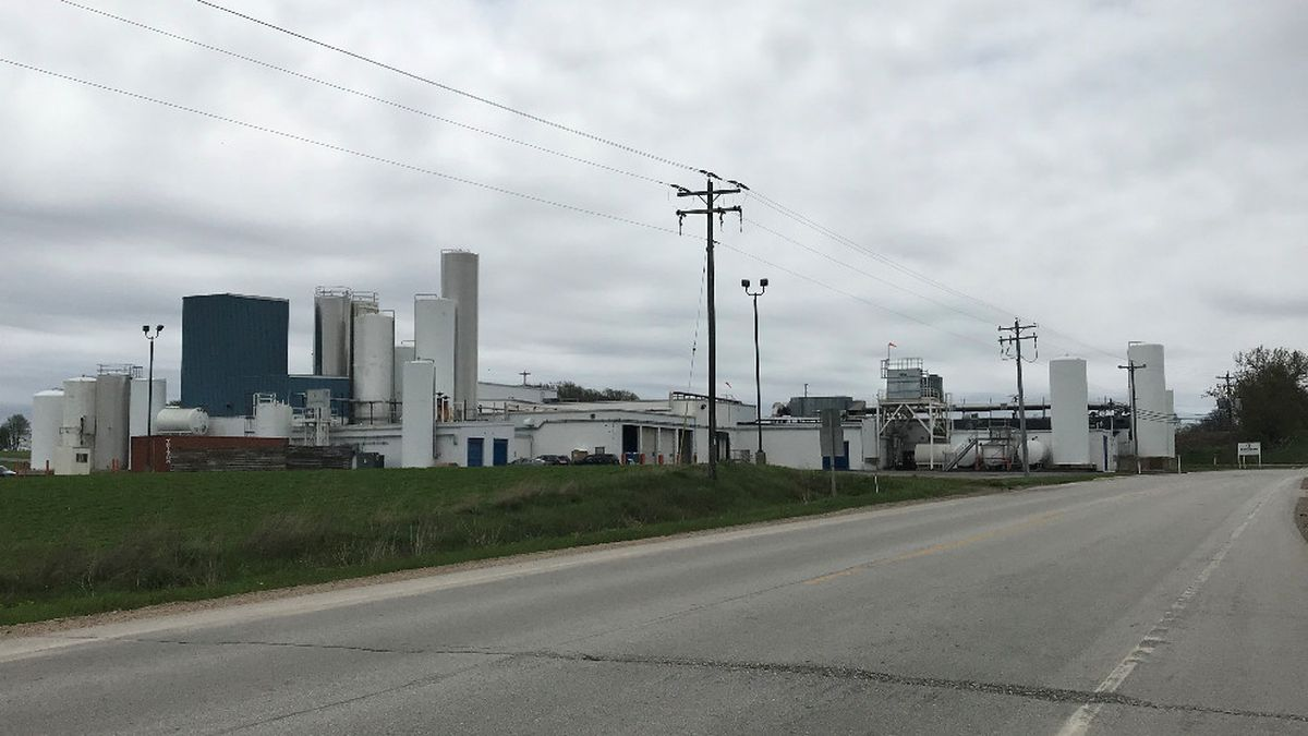 Chilton Foremost Farms facility. May 19, 2020. (WBAY Photo)