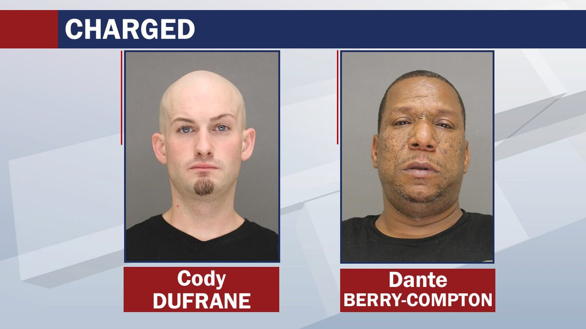 Cody Dufrane and Dante Berry-Compton were charged with sexual assault and human trafficking in...