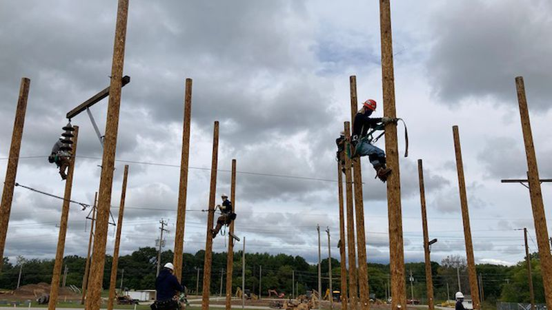 Students at NWTC in Green Bay are training to build, repair and maintain the power grid. It's...