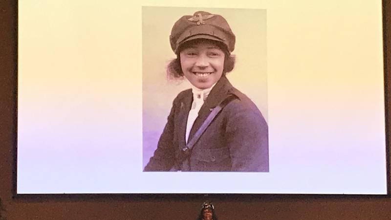 Bessie Coleman's great niece, GiGi Coleman, talks about her great aunt's aviation...