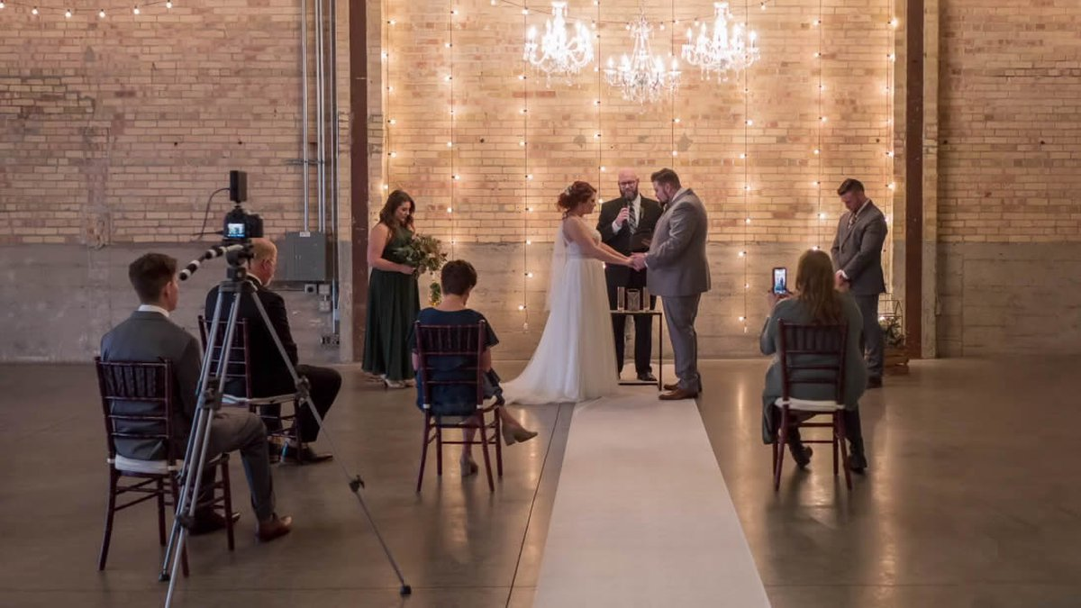 Hayley and Austin Felch were married in a small ceremony on March 21, 2020