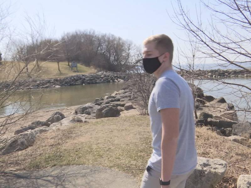 Ian Ridlehoover, 16, of Appleton is planning to swim across Lake Winnebago in June to raise...