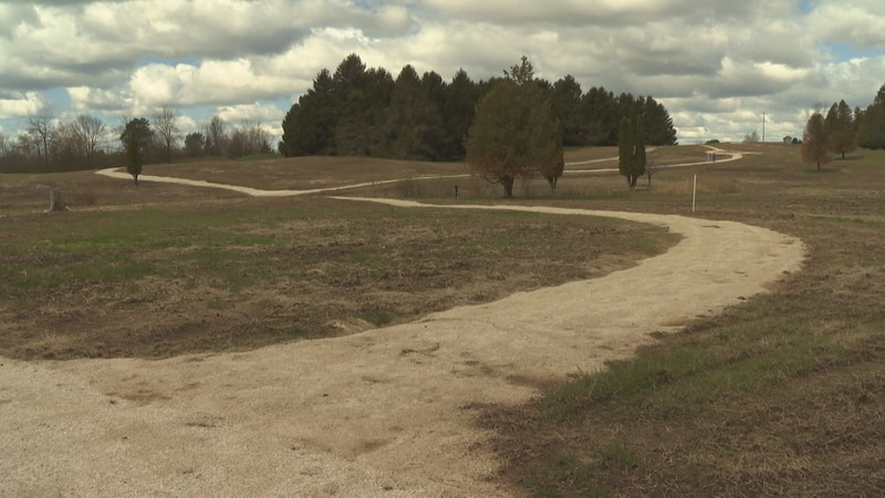 Walking trails are nearly complete at the Van Der Brohe Arboretum.