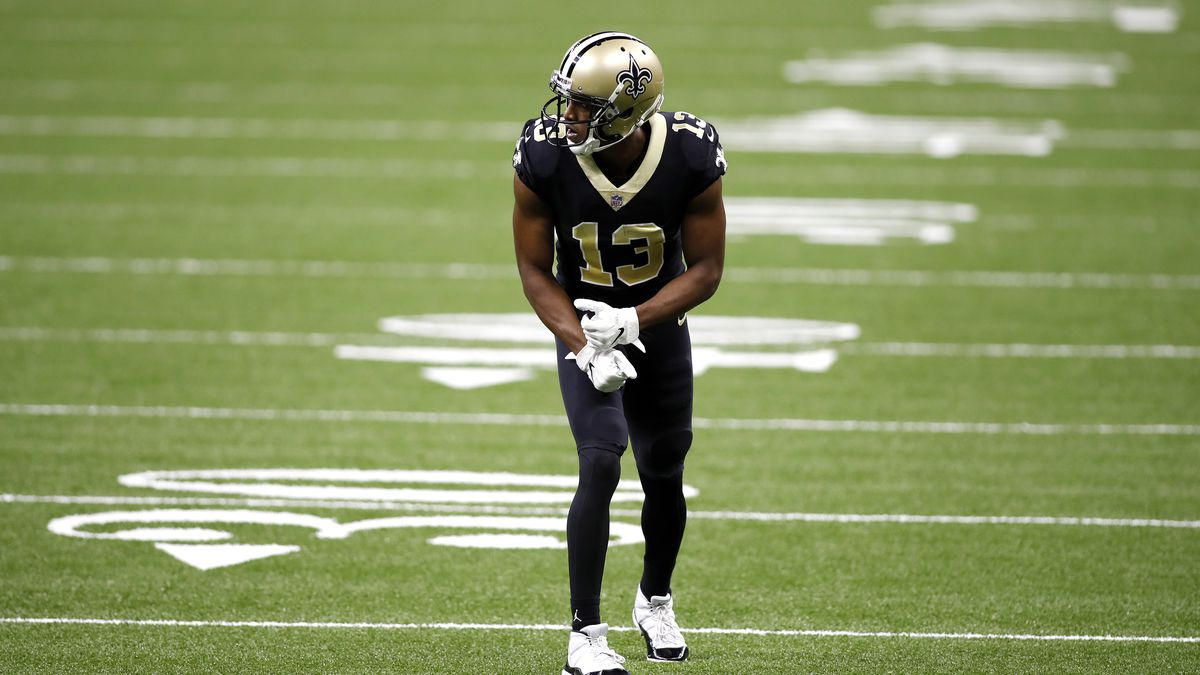 New Orleans Saints wide receiver Michael Thomas (13) during an NFL football game against the...