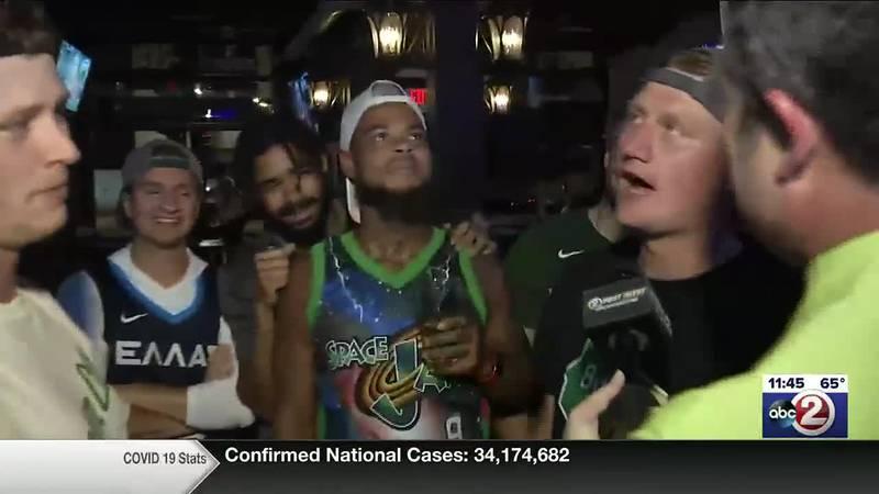 Bucks fans celebrate in Fox Valley bars following NBA Championship