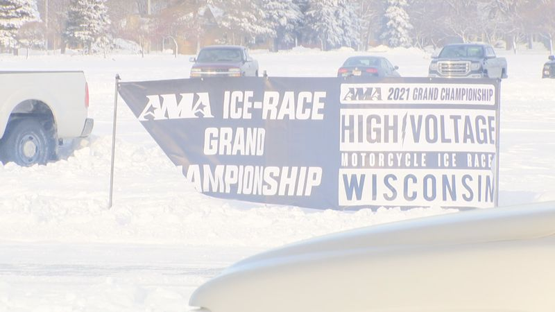 Despite the cold, dozens of people showed up to an outdoor event in Oshkosh.