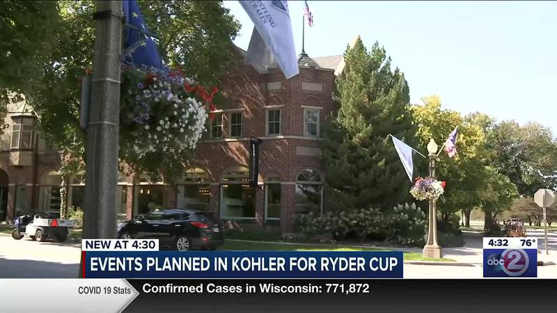 Kohler is decorated for the upcoming Ryder Cup at Whistling Straits