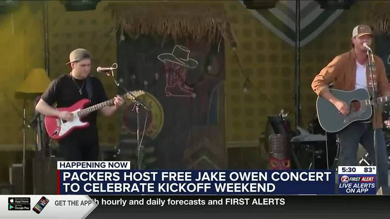 Country music star Jake Owen hypes Packers fans up ahead of home opener