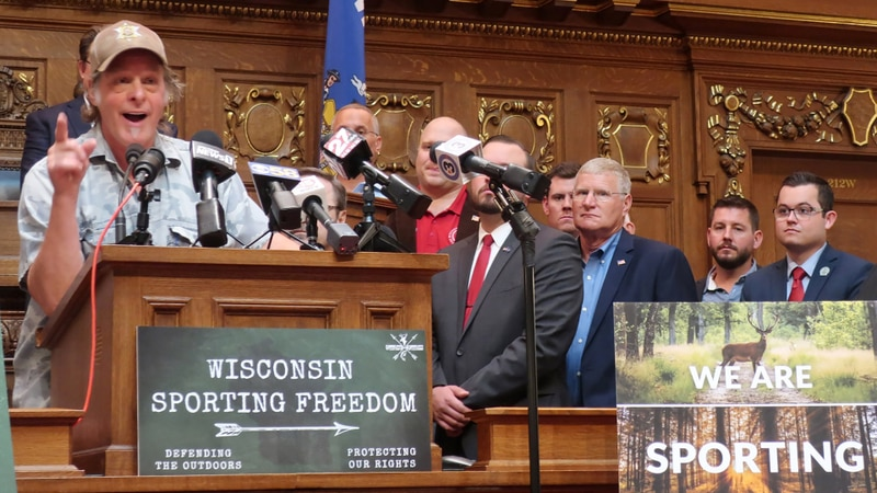 Rocker Ted Nugent joined with more than 20 Wisconsin Republican lawmakers in advocating for a...