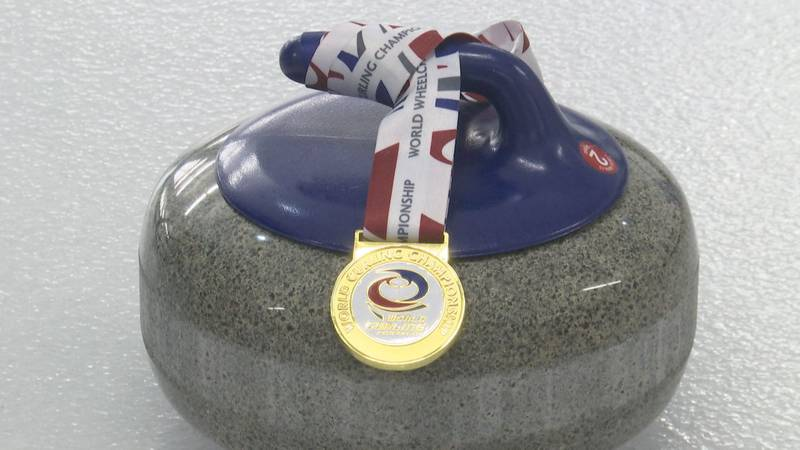 The World Wheelchair Curling Championship gold medal.