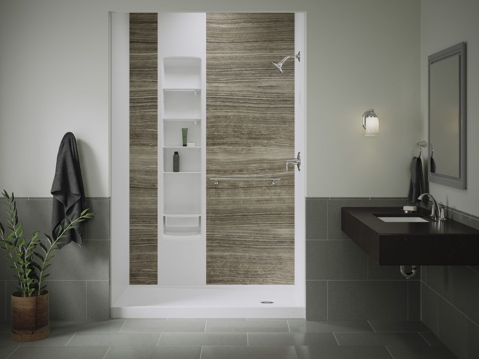 One of the many shower configurations available from Tundraland