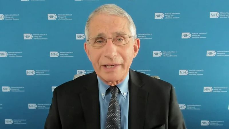 "Dr. Anthony Fauci says he ""would not hesitate for a moment"" to get a COVID-19 vaccine, if it..."