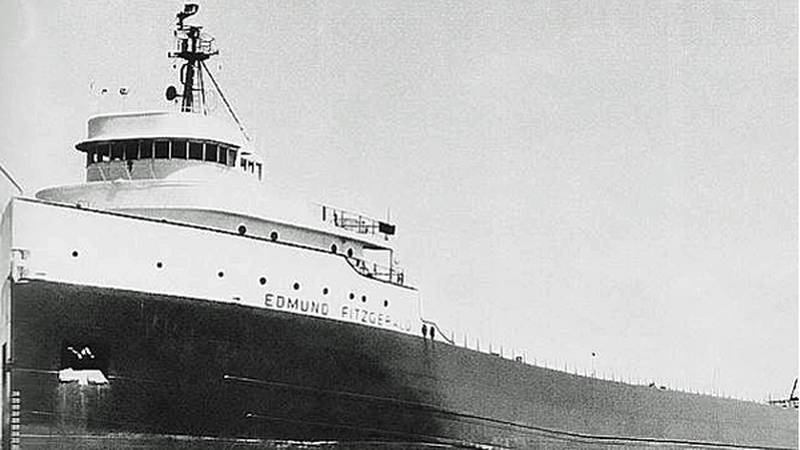 Edmund Fitzgerald, a Great Lakes freighter that sank during a storm on Lake Superior in 1975...