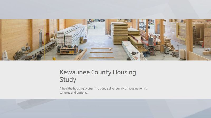 The county said the housing study, in partnership with Bay-Lake Regional Planning Commission,...
