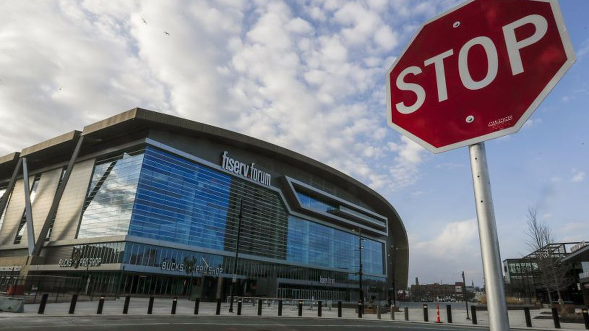 Fiserv Forum in Milwaukee. (AP Photo/Morry Gash)