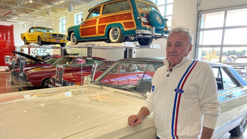 John Kroll with his 1966 Mercury Park Lane at The Automobile Gallery in Green Bay.
