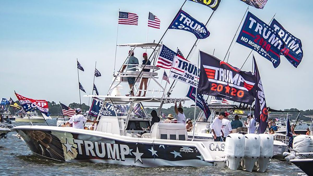 The leading boat of the parade.