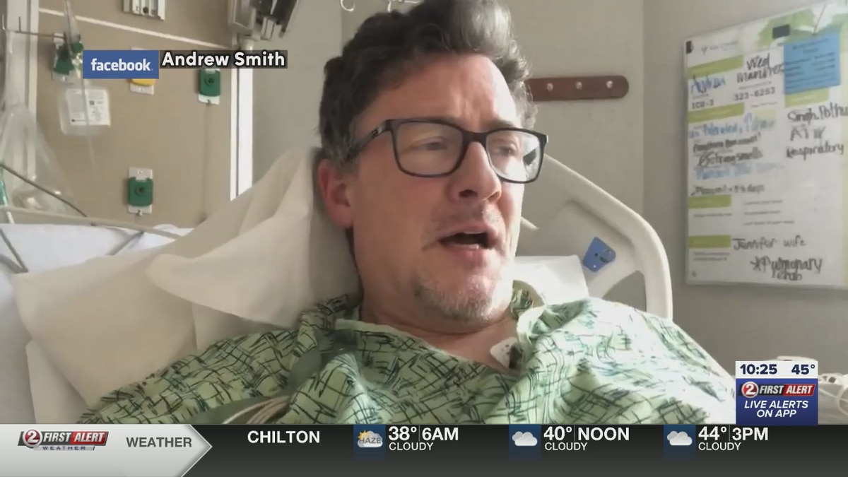 Former FOX 11 sportscaster Drew Smith posted an update from his hospital bed on his battle with COVID-19 in March.