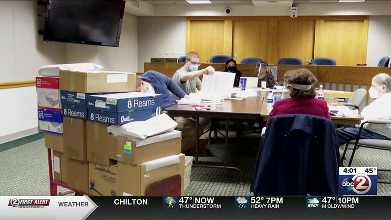 Brown County workers begin the canvassing process to verify and finalize the vote count