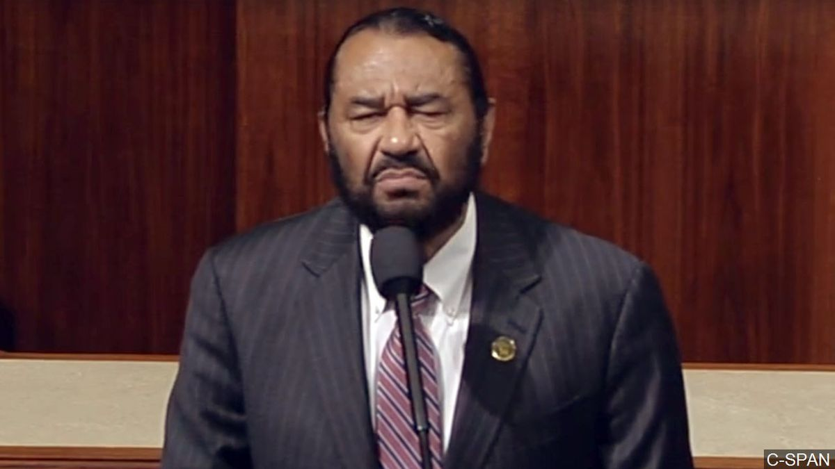 Congressman Al Green calls for President Trump's impeachment, Photo Date: May 17, 2017