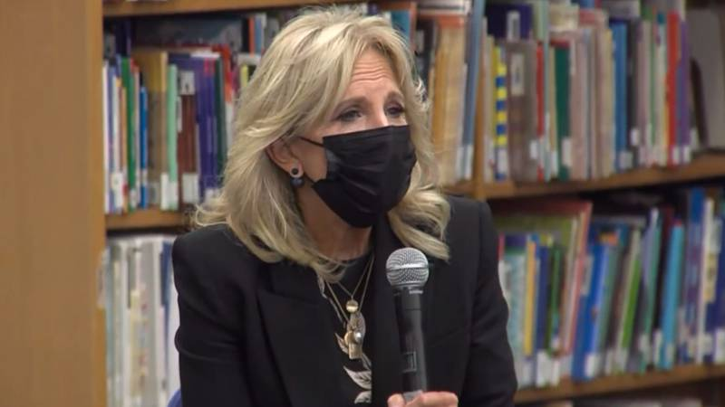 First Lady Jill Biden visited Wisconsin Wednesday to talk about the safe return to in person...