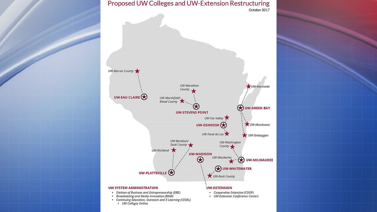 Map provided by UW System
