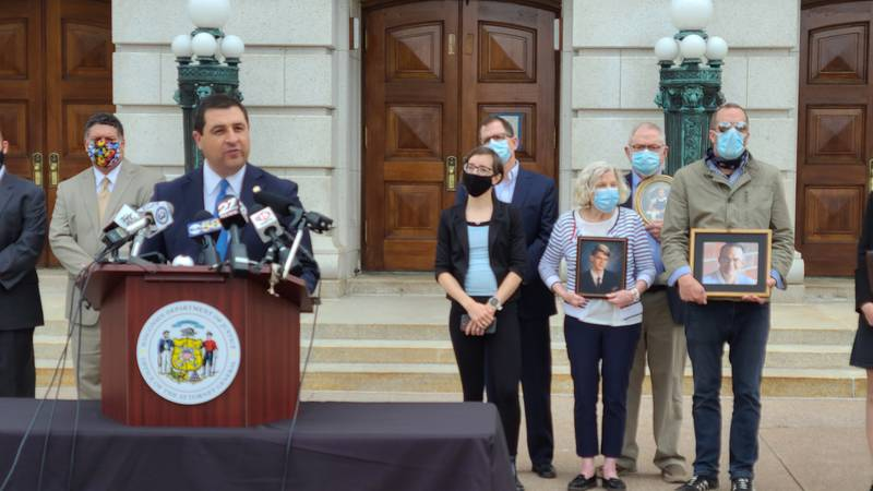 Attorney General Josh Kaul announces a new confidential hotline to report child sexual abuse by...