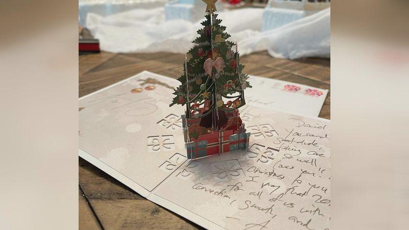 Aaron Rodgers wrote a Christmas card to Daniel Lybrand of Batesburg, South Carolina who is a...
