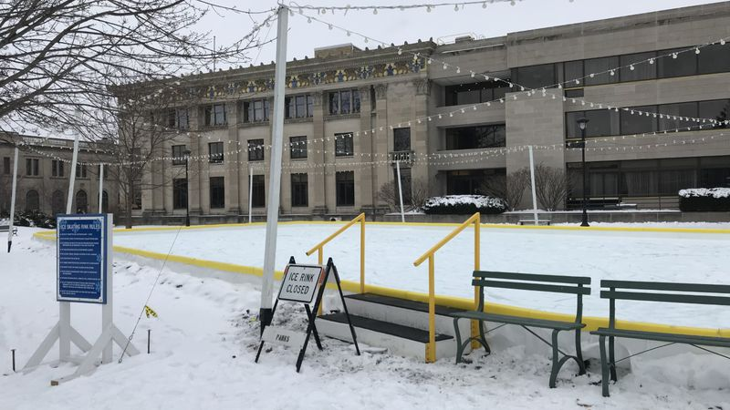 Roe Park, near the Downtown Oshkosh YMCA, is the host site for a new outdoor ice skating rink...