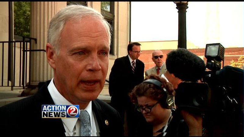 U.S. Senator Ron Johnson (R-Wisconsin) outside the federal courthouse in Green Bay (WBAY file...