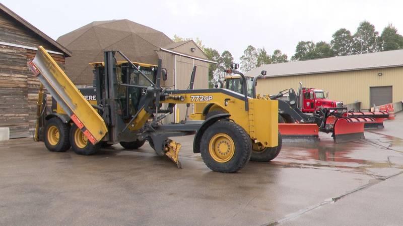 De Pere's Department of Public Works shows off winter road maintenance equipment
