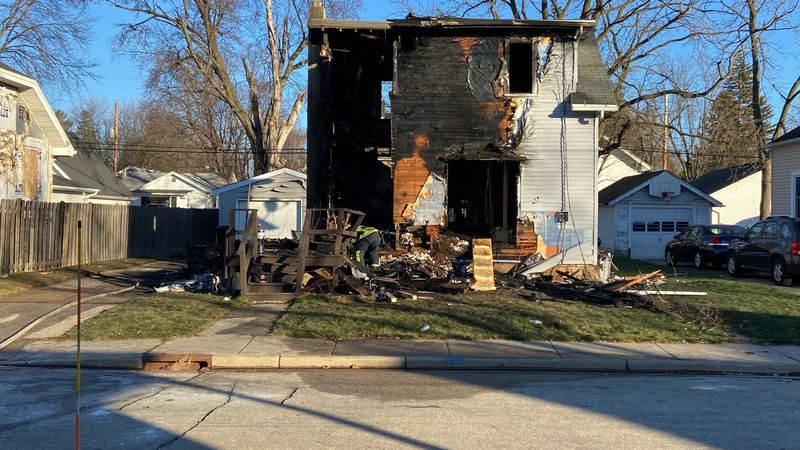 Fire officials say a man has died following a house fire in Appleton Saturday morning.