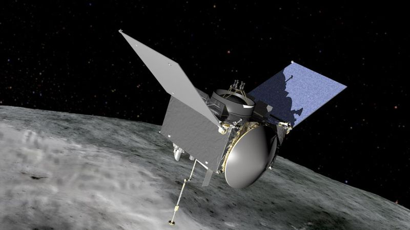 The OSIRIS-REx is expected to collect a sample from asteroid Bennu on Oct. 20.