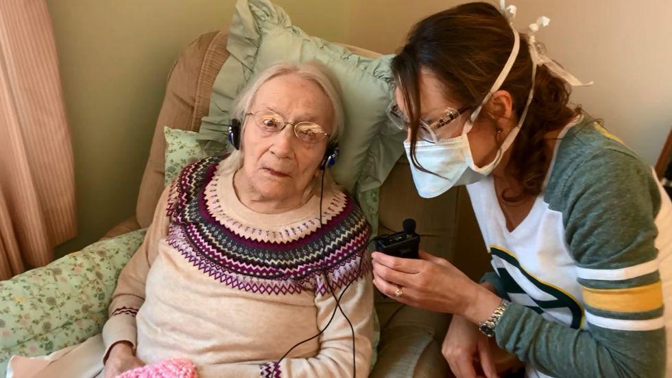 108-yr-old woman beats Covid-19