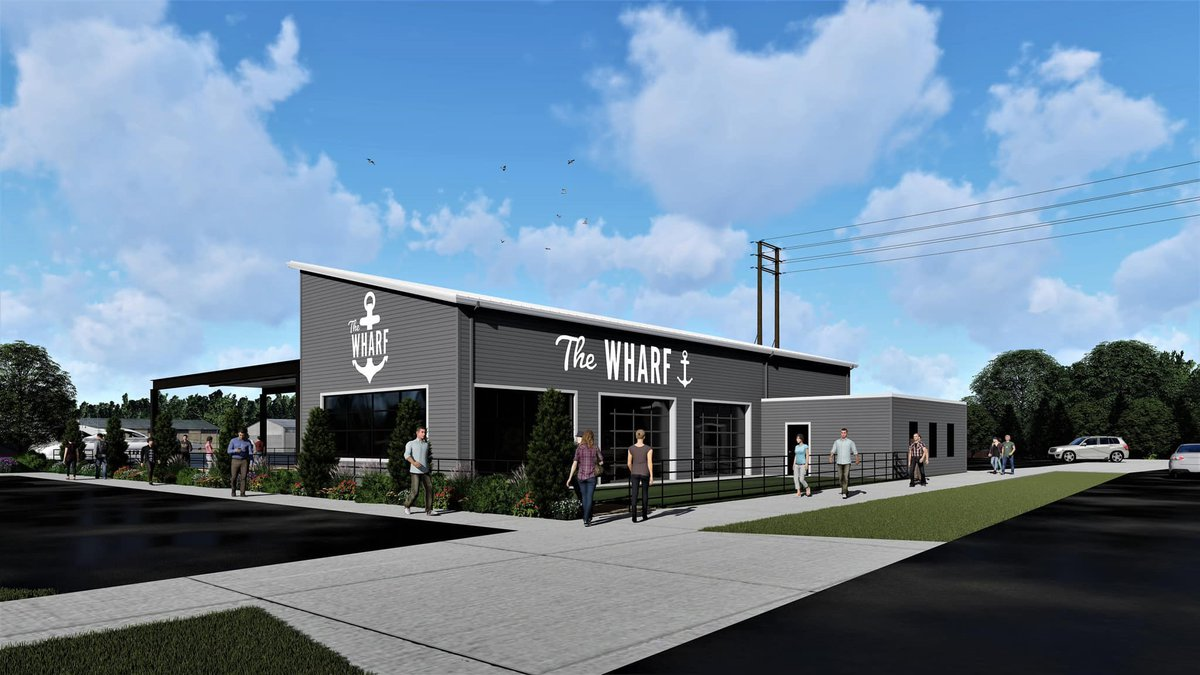 Artist concept of The Wharf expansion in Manitowoc