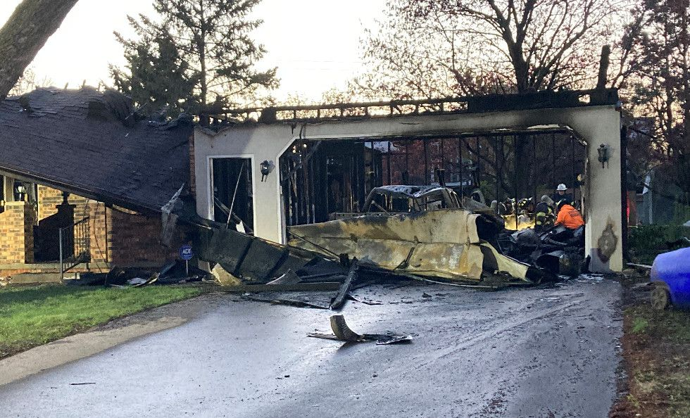The charred remains of a home in Appleton. May 5, 2021