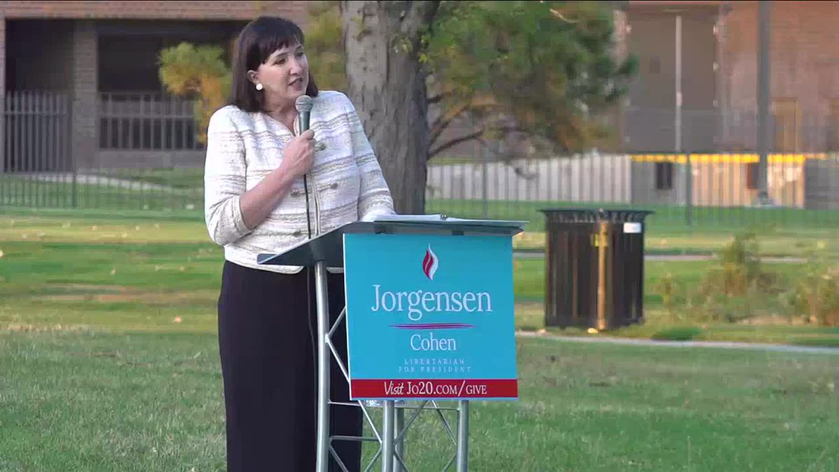 Dr. Jo Jorgenson held a campaign at Memorial Park