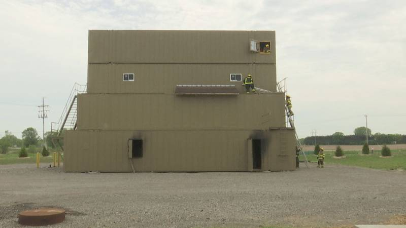 Inside these old trucking containers are obstacles firefighters could face when responding to a...
