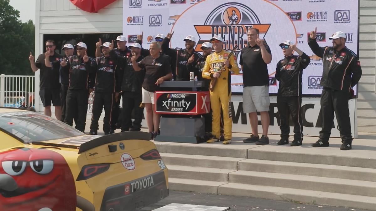 Kyle Busch wins NASCAR Xfinity Henry 180 Saturday at Road America.