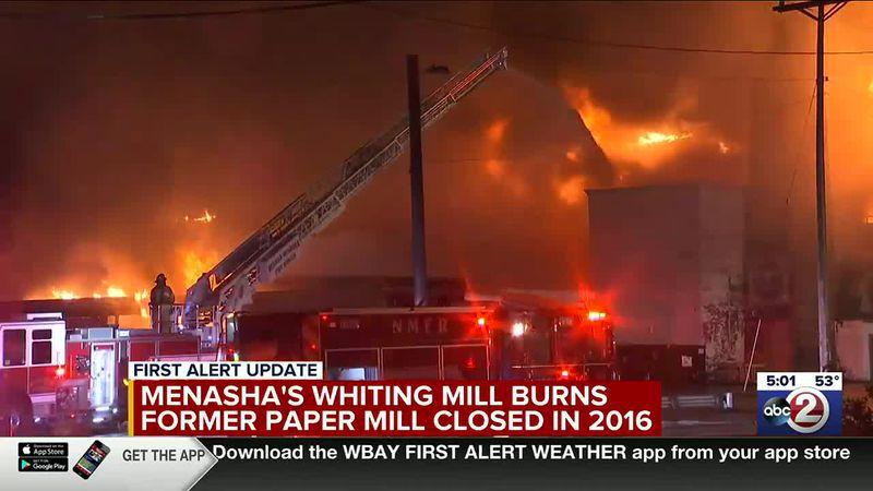 Menasha mill fire