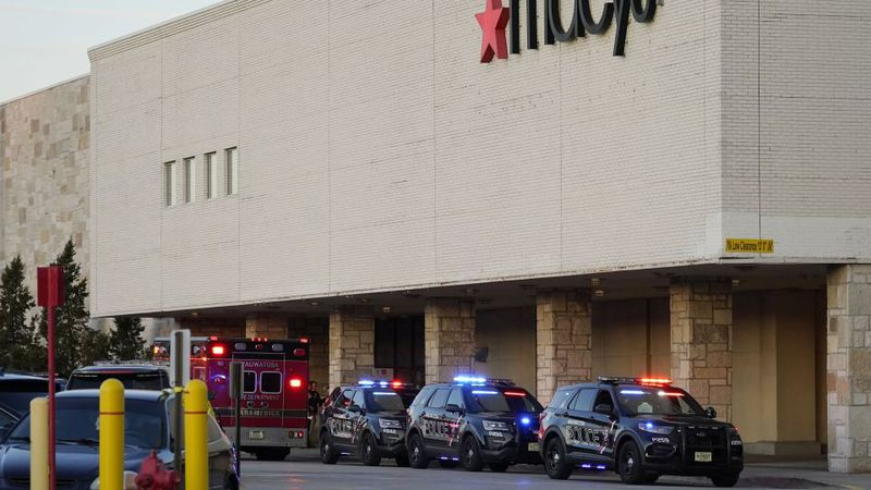 Police investigate a shooting at the Mayfair Mall, Friday, Nov. 20, 2020, in Wauwatosa, Wis....