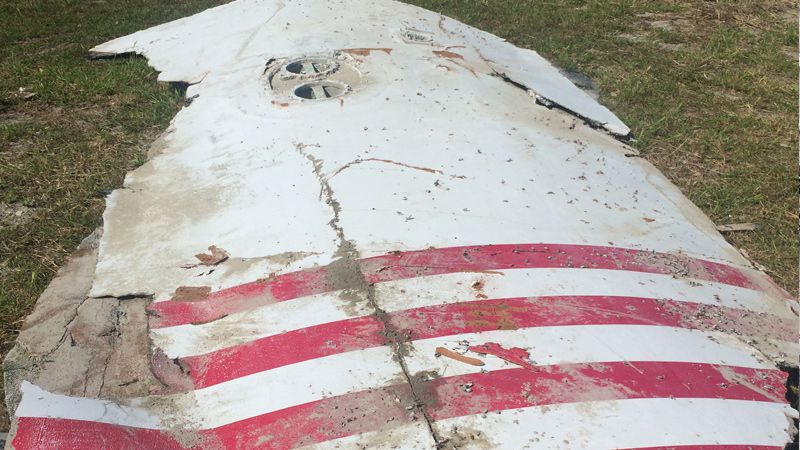 A 10-foot by 6-foot rocket part washed up on Ocracoke Island in North Carolina. It was...