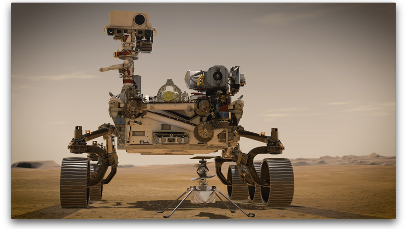 The Perseverance rover and Ingenuity Mars Helicopter will land on Mars in February, 2021.