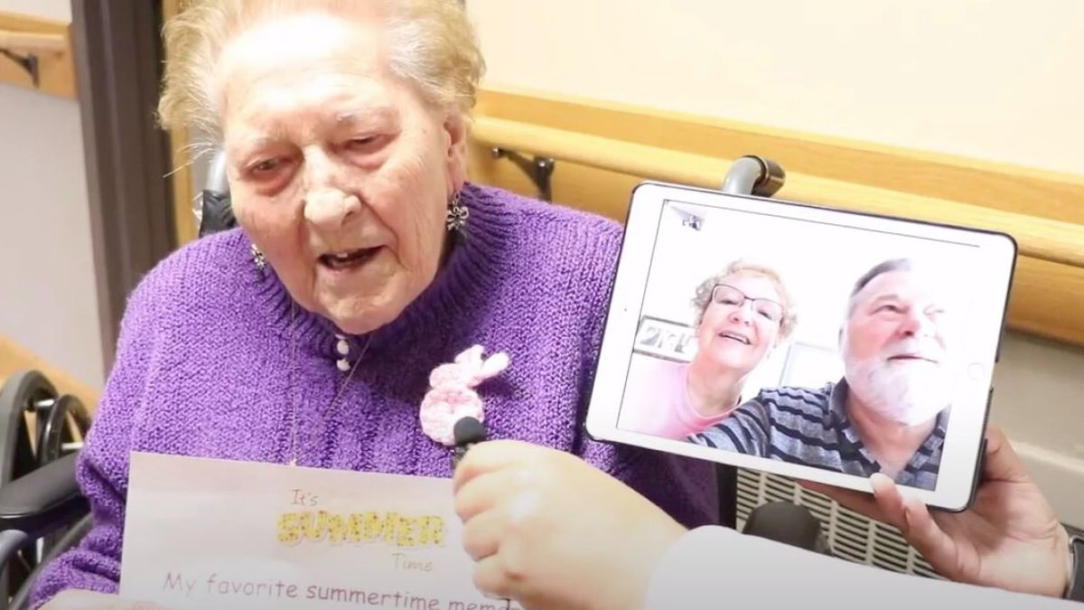 Video chats allow people in senior living to stay in touch with family members when visitors aren't allowed (Photo: St. Paul Elder Services)