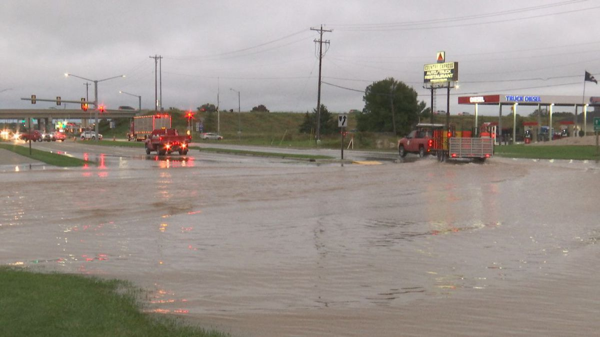 Severe flooding closed Monroe Road at Highway 172 on Sept. 11, 2019 (WBAY file photo)
