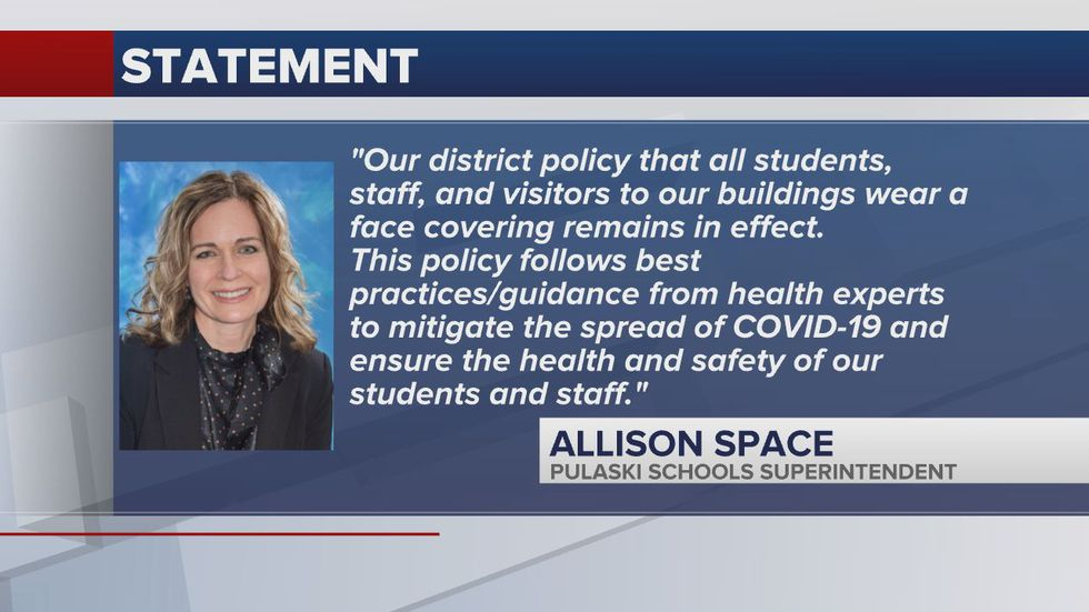 Statement over mask policy
