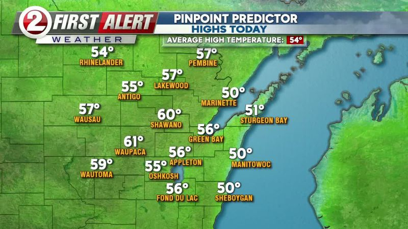 First Alert Forecast: Sunny Saturday continues, clouds build Sunday