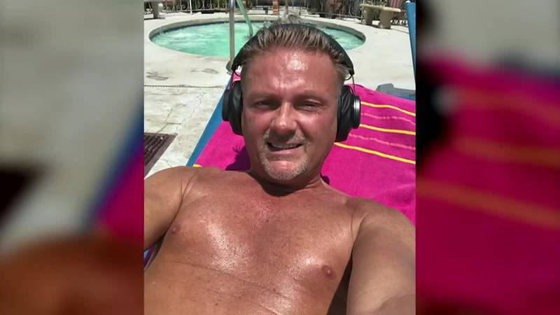 A man visiting Palm Springs, Calif., suffered heat stroke and died walking on the way to meet...